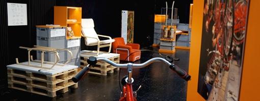 """Der Bereich """"Arbeit"""" der DIY Ausstellung. Foto: Tine Nowak"""