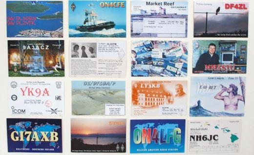 Funkkarten aus aller Welt, Foto: Gessler