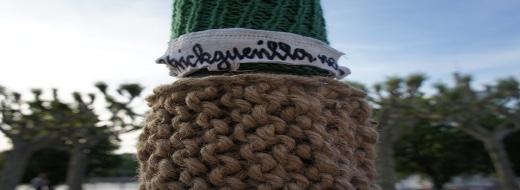 Guerilla-Knitting-Aktion bei der Nacht der Museen. Foto: Nowak