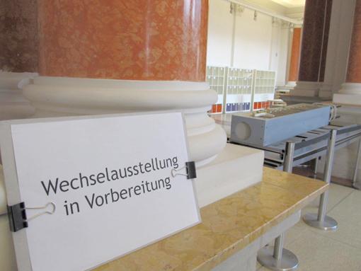 Wechselausstellung in Vorbereitung, Foto: Tine Nowak