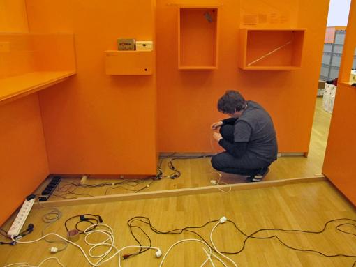 Technikinstallation in der Ausstellung, Foto: Tine Nowak