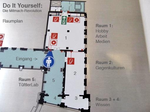 Raumplan der DIY-Ausstellung, Foto/Grafik: Tine Nowak