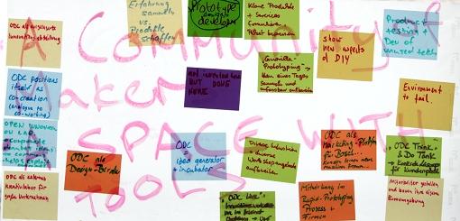 Brainstorming im betahaus Berlin (Open Design City). Foto: Tine Nowak