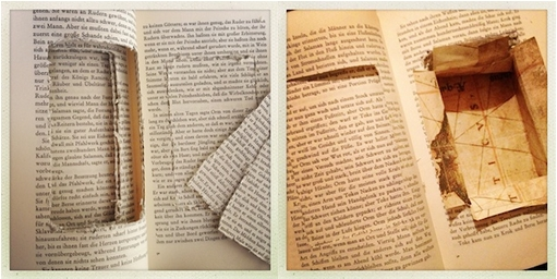 Selbstgemachtes Versteckbuch. Foto: Andrea Diener