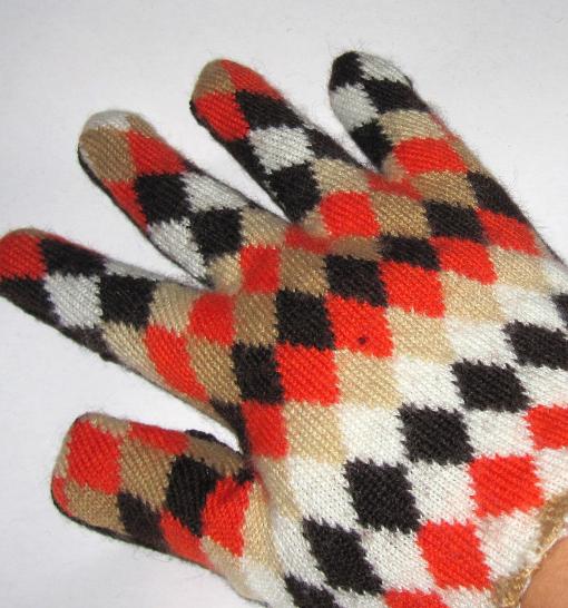 Frau Sonnenschein Upcycle Handschuhe. Foto: Katrin Großmann